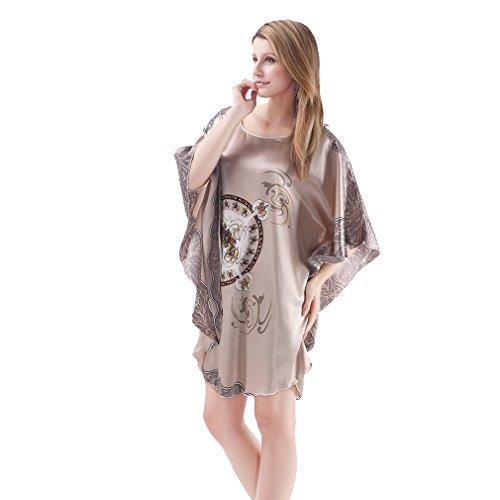 BOYANN Vestaglie e Kimono Manicotto di Batwing Pigiami e Camicie da Notte Donna Modello Cavallo 1