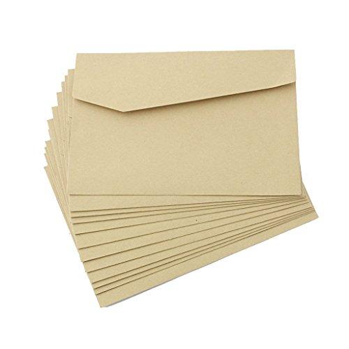 Preisvergleich Produktbild Generic 12st Kraftpapier Umschlag Mailer Für Einladungen Postkarte Brief # 1