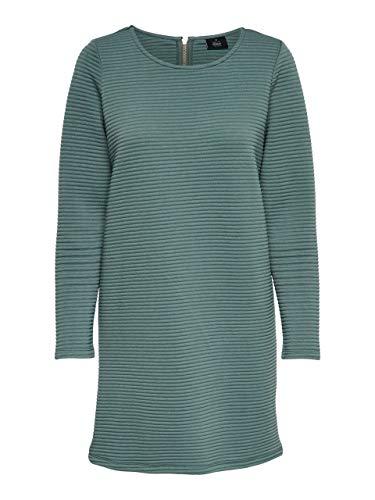ONLY Damen Kleid onlNAOMI L/S Dress CS SWT, Grün (Balsam Green), 38 (Herstellergröße: M)