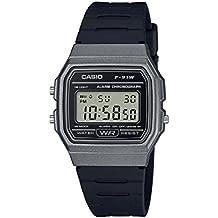 Casio - Reloj Casual de Cuarzo para Hombre, de plástico y Resina, Color Negro