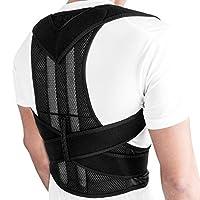 Honorall Posture Corrector for Men Women Back Brace Adjustable Straps Shoulder Support Trainer