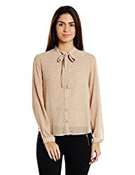 Forever 21 Womens Body Blouse Shirt (00207143013_0020714301_TAUPE/BLACK_3)