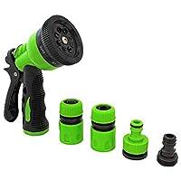 Garden Hose Nozzle - Hand Sprayer - High Pressure Spray Gun With 8 Pattern Settings Watering - Pistol Grip