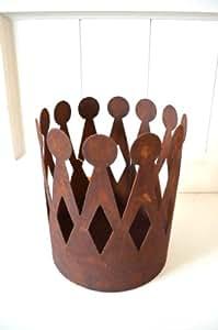 Krone rost pflanzschale edelrost deko aus metall for Gartendeko rost krone