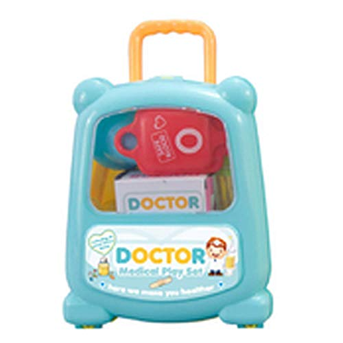 Uhwwdjhke DIY Lustige Nette Simulation Medizinische versorgung Tragbare Koffer Schneiden Spielzeug Set für Kinder Kinder Pädagogisches Pretend Playset Rollenspiel Spielzeug Zufällige Farben