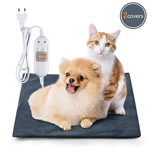 Lypumso Haustiere Heizdecke Wärmematte Heizkissen für Katzen & Hunde, Thermomatte Umweltfreundliche Sicherheit wasserdicht Heizdecke (S)