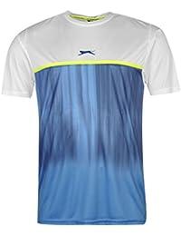 Slazenger Homme Slam T-Shirt Tee Top Haut Casual Sport Running Manche Courte
