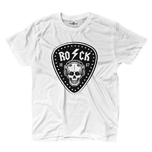 Dc Metallic-t-shirt (KiarenzaFD T-Shirt Musica Hard Rock Heavy Metal ACDC Totenkopf Old School Thunder, KTS02173-XL-white, weiß, XL)