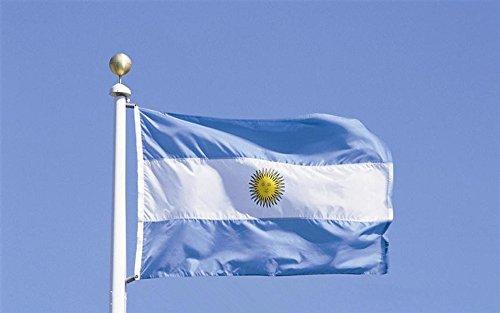 Argentina Bandera 5 * 3 pies / 150 * 90 cm Bandera de poliéster perfecta para Partidos y Actividades Gran Bandera de AR