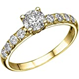 1 ct. Round Diamond Solitaire Engagement Ring in 18k Yellow Gold