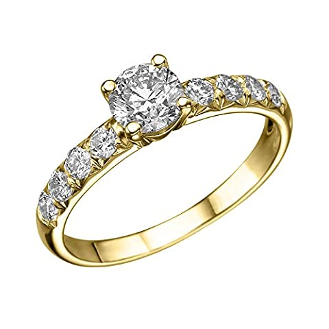 ND Outlet - Engagement Or 750 Or jaune|#Gold Rond brillant Diamant