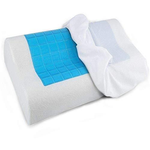 The Bamboo Pillow Almohada cervical con gel frio ideal menopausia - Almohada viscoelastica tipo cojín...