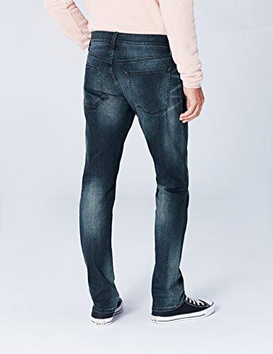 FIND Slim Fit Jeans Herren schmale Beine Vintage-Waschung Blau (Indigo)