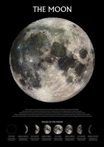 1art1 Empire 210449 Weltall Universum - Der Mond - Plakat Poster Druck - 61 x 91.5 cm