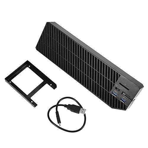 Zerone Xbox ONE Festplatte Gehäuse, Xbox One externer Speicher Erweiterung 2USB 3.0Hub & Lüfter für Xbox One