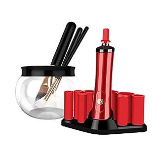 Make-up Pinsel Reiniger Einstellbar Elektrische Bürste Reiniger Und Trockner Maschine, Sauber In Sekunden Und Trocken Mit 8 Gummi Halter, Anzug Für Alle Größe Make-up Pinsel (Farbe : A)