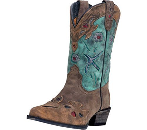 Dan Post Mädchen Blue Bird Cowgirl Stiefel Snip Fuß–dpc2151, Mädchen, braun (Stiefel Post-kinder Dan)
