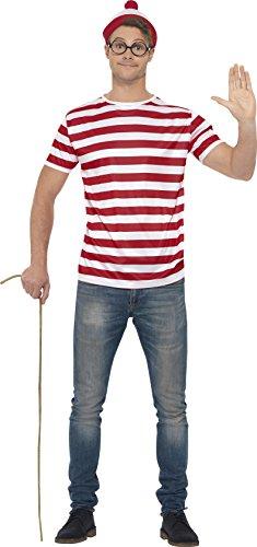 Smiffy's Dónde está Wally kit instantánea, color rojo y blanco (42924M)