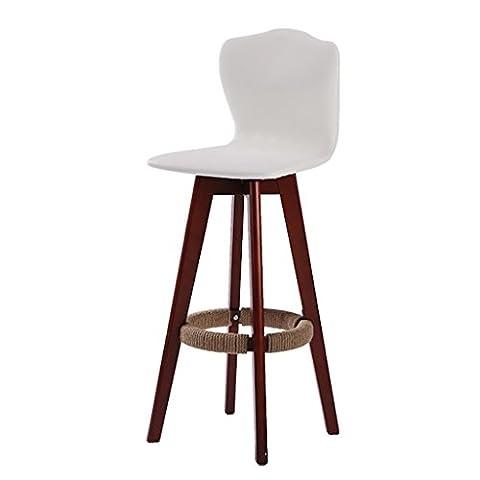 BZEI-Chair Rétro fauteuil rotatif Bar Tabouret en bois massif Chaise