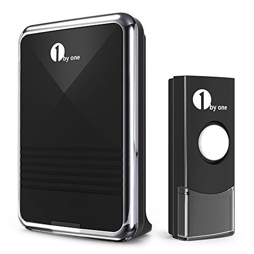 campanello-wireless-senza-fili-1byone-per-porta-kit-campanello-wireless-con-1-ricevitore-e-1-tasto-d