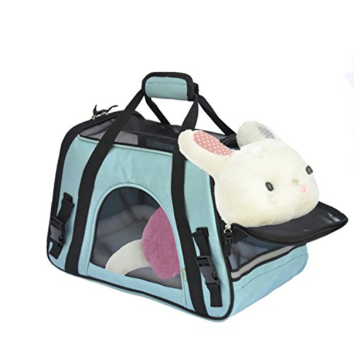 zmal Fluggesellschaft zugelassen faltbar tragbare weiche Stoff Pet Tasche für Hunde Katzen Komfort Travel Bags atmungsaktiv Oxford Mesh und Fleece-Matte und Futtertasche