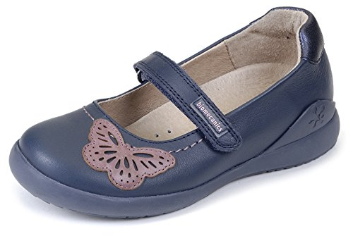 Biomecanics 161155, Mary Jane Flats fille Bleu - Azul Marino (Sauvage)