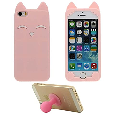 Doux Silicone Gel iPhone 5 5S Coque protection Anti choc
