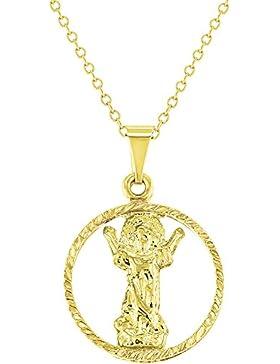 In Season Jewelry Neugeborenes Kind - Halskette Religiöses Göttliches 18k Vergoldet 40cm