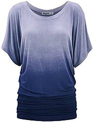 Mena UK Mujer nuevo tee pendiente Camiseta chaqueta /cinco colores ( Color : Azul oscuro , Tamaño : L )