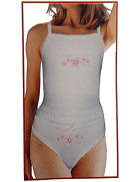 2er Pck. Mädchen Garnitur, Unterhemd + Slip MS0905e
