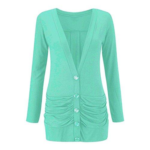 Momo&Ayat Fashions -  Cardigan  - cardigan - Maniche lunghe  - Donna Mint