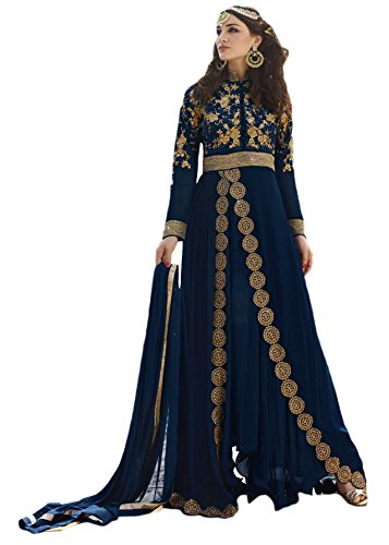 Justkartit Party Wear Anarkali Suits/Casual Ocassion Wear Womens Dress Material/Indian Ethnic Wear/Heavy Embroidery Work Dresses Collection