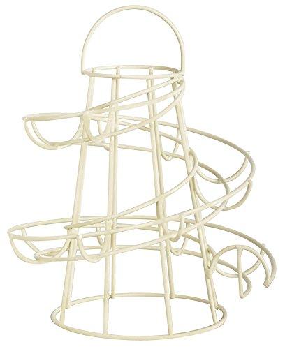 Esschert Design Uova Supporto in Metallo, 18x 18x 23cm, in Bianco, fruehstuecksei di Supporto preisvergleich