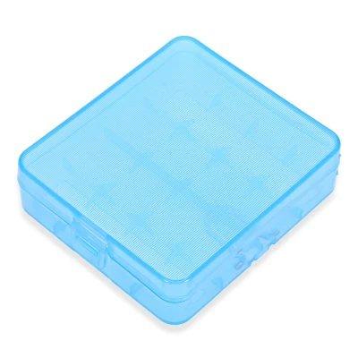 Rayee batería de polímero de Propeno práctico Caso Caja titular/contenedor de almacenamiento con gancho para 4pcs 18650/18350–Baterías azul