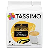Tassimo Twinings English Breakfast Tea Pods (Pack of 5, 80 pods in total, 80 servings)