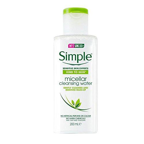 Simple Gesichtspflege Reinigendes Mizellenwasser, 200 ml (Haar-entferner Feuchtigkeitsspendende)