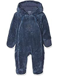 076f65946 Mamas & Papas Baby Boys' Blue Fur Pramsuit Snowsuit