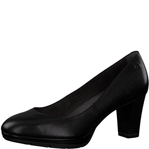 Tamaris Damen Plateaupumps 22438-21,Frauen Plateau-Pumps,Plateau-Sohle,Plateauschuhe,modisch,bequem,Fashion,Blockabsatz 7cm,Black Leather,EU 42