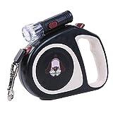 FORTR HOME Walking Running Pet Supplies Einziehfahrwerk Kreative Lampe Automatische Hundeleine Hundseil eas 5M (, Pink, 5M (Color : Black, Size : 5M)