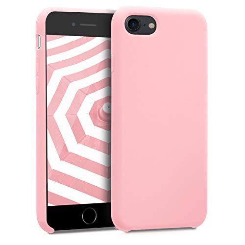 kwmobile Funda para Apple iPhone 7/8 - Carcasa de [TPU] para teléfono móvil - Cover [Trasero] en [Oro Rosa]