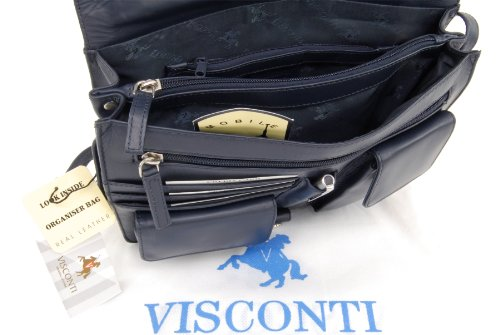 Borsa in pelle a tracolla di Visconti - Atlantic Blu Scuro