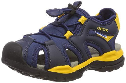 Geox Jungen J Borealis Boy C Geschlossene Sandalen, Blau (Navy/Yellow C0657), 34 EU (Kid Sandalen Navy)