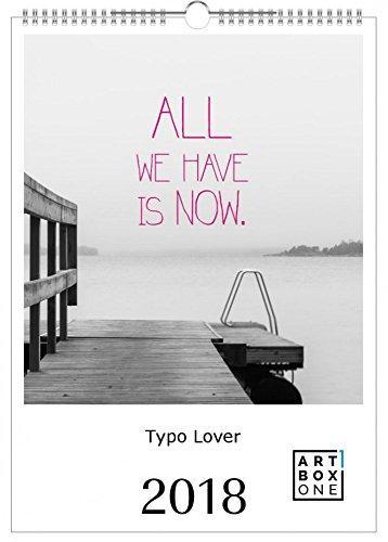 artboxONE Kalender 2018 Typo Lover Wandkalender A3 Typografie