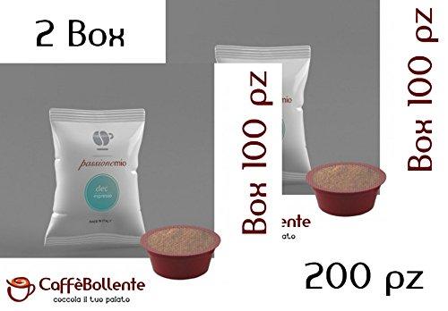LOLLO CAFFE' 200 Capsule PASSIONEMIO miscela DEC ESPRESSO DEK decaffeinato