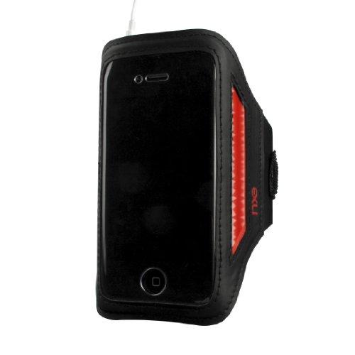 NXE EX-AP-4P-BAN-2 NXE Sportarmband für iPhone/iPod Touch, reflektierend, Schwarz/Rot, 1 Stück Silicon Case Ipod Video