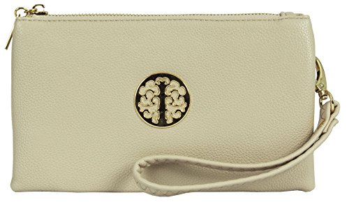 Big Handbag Shop, Borsetta da polso donna Beige