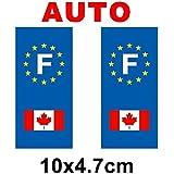 Autocollant plaque immatriculation drapeau canada - Auto