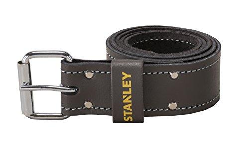 Stanley STST1-80119 Ledergürtel, Breite: 4,5 cm, Länge: 126 cm, 16 Loch | Werkzeuggürtel Herren