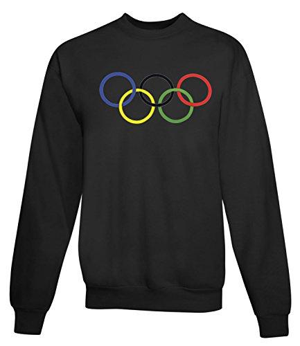 Billion Group | Rio Rings | Olympic Games Series | Women's Unisex Sweatshirt Noir