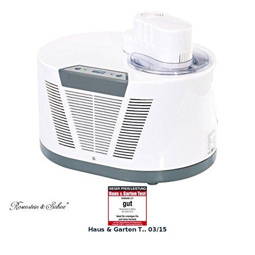 Rosenstein & Söhne Glace-Maschine: Kühl-Kompressor Eismaschine EMA-870, für 1 Liter Speiseeis, 120 Watt (Eismaschine mit Aktiver Kühlung)